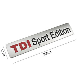 black sports car sticker Canada - Metal Red TDI Sport Edition Logo Turbo Car Letter Sticker Emblem Chrome Badge Decals for VW POLO GOLF CC TT JETTA GTI TOUAREG