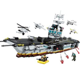 $enCountryForm.capitalKeyWord Australia - 1007pcs Children's Building Blocks Toy Compatible City Military Position Series Large Aircraft And Carrier Model Toy J190719