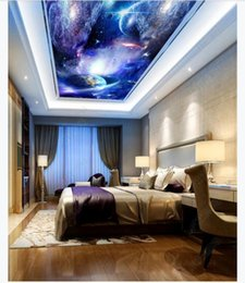 wallpapers for rooms Australia - Customized 3D Zenith Photo Ceiling Background Mural Cosmic Stars Empty Living Room Zenith Ceiling Wallpaper for walls 3d