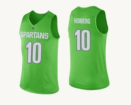 Basketball Jerseys Gold Black UK - Joshua Langford Stitched Green Michigan  State Spartans Keith Appling Kenny 6e9e0801a