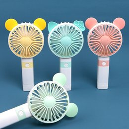 small plastic gears UK - Mini Portable USB Rechargeable Fan Small Gift Fan 3 Speed Personal Desk Table Fan for Home and Office