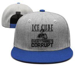 Ice Cubes Balls Australia - Ice Cube Everythangs Corrupt album blue mens and women snap back,flat brimcap ball cool custom blank fashion hats