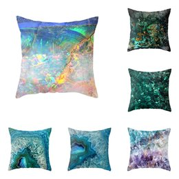 Simple pillow cover pattern online shopping - Geometric marbling pattern Cushion Covers Simple Home Throw Pillows Covers Decorative Linen Pillow Case For Sofa Chair cm