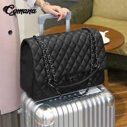 large leather travel bag women NZ - CGmana Large Capacity Bag 2018 Large Shoulder Bag Women Travel Bags Leather Pu Quilted Bag Female Luxury Handbags Bolsa Feminina Y190606