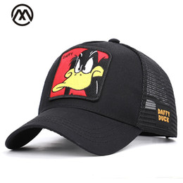 ef6a415fb1301 Baseball Caps Animal Embroidery Duck Anime Cute Rabbit Embroidery Summer  Mesh Men's Ms. Outdoor Sunshade Dad Truck Driver hats