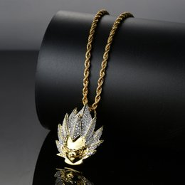 $enCountryForm.capitalKeyWord Australia - New Arrival Cartoon Super Saiyan Goku Avatar Pendant Personality Shape Iced Out Bling Zircon Hip Hop Necklace Jewelry Gift J190625