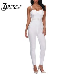 Woman S Jumpsuit Xs Australia - INDRESSME Women Full Length Bandage Jumpsuits Sexy Spaghetti Strap Club Party Jumpsuits Vestidos 2019 T5190614