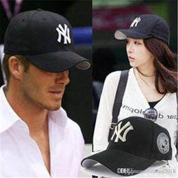 Dark Blue Ny Hat Australia - Black Adult Unisex Casual Baseball Caps  fashion Snapback hats for 0a14bf948