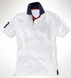 $enCountryForm.capitalKeyWord NZ - High Quality Men Solid Polo Shirts Number 3 Big Pony Embroidery US Fashion Boys Business Casual Polos White Orange Blue