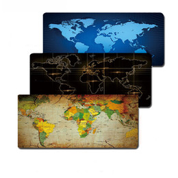 mouse pad world UK - Lock edge Gaming Gamer Mouse Large Mouse Pad Old World Map Laptop Computer Mousepad Keyboard Mats Office Desk Resting Surface Mat 70*30cm