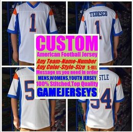 5156f3e8e40 Blue White American Football Jersey Australia - 2019 Personalized american  football jerseys college cheap authentic rugby