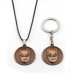 Necklaces Pendants Australia - JoJos Bizarre Adventure Key Chain KILLER QUEEN Pendant Necklace Leather Chain Choker Keychain Keyrings Gift Jewelry for Mens