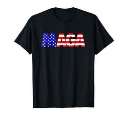 986971b13 MAGA America First Trump 2020 Republican USA Flag Black T-Shirt For Man  S-XXL Funny 100% Cotton T Shirt Style Round Style tshirt