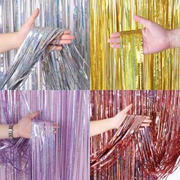 backdrop party Australia - Bachelorette Party Backdrop Curtains Glitter Gold Tinsel Fringe Foil Curtain Birthday Wedding Decoration Adult Anniversary Decor