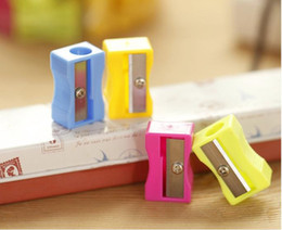 old fashion stationery Australia - Pencil Sharpeners Easy To Use Office School Pen Pencil Sharpener High Quality Fashion Single Holes Pencil Cutter Stationery SN4348