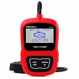 engine codes Australia - Car Tools FOXWELL NT200 Car Engine Tool Code Reader CAN OBDII EOBD Automotive Tools Universal OBD 2 Diagnostic Scanner