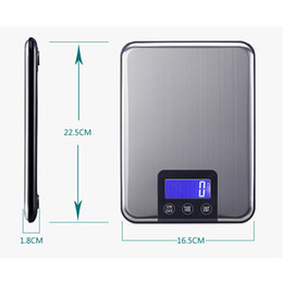 $enCountryForm.capitalKeyWord Australia - Hot sale 15kg 1g Food Weight Electronic balance Household Scales Stainless Steel Platform Postal Shipping Scale Digital Kitchen Scale