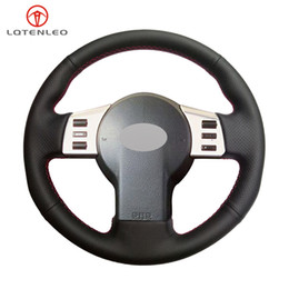 $enCountryForm.capitalKeyWord Australia - LQTENLEO Black PU Artificial Leather Hand Sew Car Steering Wheel Cover For Infiniti FX FX35 FX45 2003-2008 350Z 2003-2009