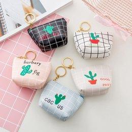 $enCountryForm.capitalKeyWord NZ - 2019 INS 5 Colors 11X8cm Cute Cactus Canvas Mini Coin Purse Key Chain Wallet Children Birthday Gift Storage Accessories Boys Girls