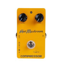 Compressor Pedal Australia - NAOMI NEW Caline CP-10 Hot Mushroom Compressor Red Script Guitar Effect Pedal Stompbox Guitar Parts Accessories