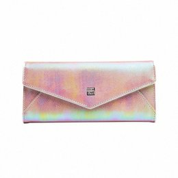wholesale colorful wallets NZ - EYES In LOVE Fashion Glitter Colorful Women Long Wallet Clutch Many Departments Phone Pocket Card Holder Purse Ladies Wallet Fem E0iz#