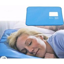 Summer Ice Pad Massager Therapy Sleeping Aid Insert Chillow Mat Muscle Relief Cooling Gel Pillow retail package on Sale