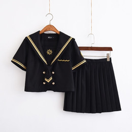 Wholesale school girl cosplay xxl for sale - Group buy UPHYD Anime School Uniform Cosplay Sailor Suits S XXL School Girl Cheerleader Uniforms Top and Skirt C18122701