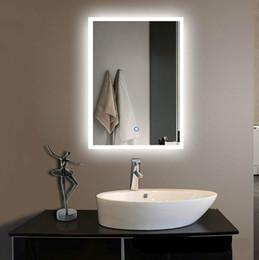 $enCountryForm.capitalKeyWord Australia - New Modern Creative Waterproof 60*80cm Led Light Mirror For Bathroom Hotel With Touch Switch Multi Function LLFA