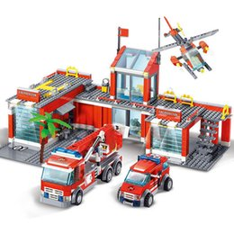 engines toys NZ - New City giocattoli per bambini fire station Legoes building block games fire engine fighter block truck toys for children