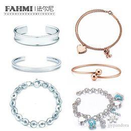 $enCountryForm.capitalKeyWord Australia - FAHMI Charm Gift 925 Sterling Silver Rose Gold Bell Heart Lock TIF Attractive Elegance Temperament Bracelet World Jewelry