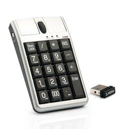 Venta al por mayor de Original 2 en el teclado USB del ratón óptico de IONE SCORPIUS N4, Wired 19 teclado numérico con el mouse y la rueda de desplazamiento para la entrada de datos rápida
