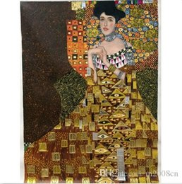 $enCountryForm.capitalKeyWord NZ - Gustav Klimt of Adele Bloch-Bauer I gold Handpainted & HD Print Classical Portrait Art Oil Painting On Thick Canvas Multiple Sizes p17