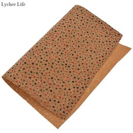 fabric patchwork clothes NZ - Lychee Life 10 Style Soft Garment Patchwork Cork Fabric For Women Handmade A3 DIY Clothes Decoration Accessories