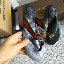 Women Genuine Leather Slides Australia - Fashion Summer Designer women Flip flops Slipper Luxury Fashion Genuine Leather slides sandals Metal Chain Ladies Casual shoes