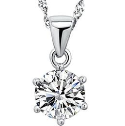 $enCountryForm.capitalKeyWord Australia - 925 Sterling Silver Six Claw Pendant Necklace Women Zirconia Austrian Crystal Pendant Water Necklace Wedding Jewelry Friendship Gift