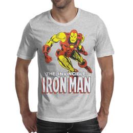 $enCountryForm.capitalKeyWord Australia - Invincible Iron Man Classic Marvel Metal Sign Mens T-Shirt Crew Neck Short-Sleeve Tee Tops grey