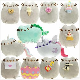 Wholesale Pusheen Cat The Cat Angel Cake Cookie Icecream Egg Pizza Doughnut Rainbow Sushi Dinosaur Dino Moon Cat Plush Doll Stuffed Best Gift toy