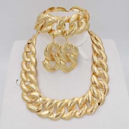 Parure jewelry online shopping - 2018 New High Quality Dubai big Jewelry Set tones Gold color Nigerian Wedding African Jewelry Sets Parure Bijoux Femme