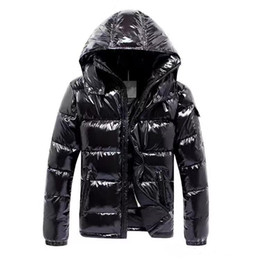 designer zipper hoodies NZ - Jackets Mens Designer Coat Hooded Autumn Winter Windbreaker Coat Down Thick Luxury Hoodie Outwear Luminous Jackets Asian Size Men's Clothing
