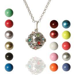$enCountryForm.capitalKeyWord Australia - Harmony Ball Necklace Vintage Colorful Creative Music Chime Bell Wishing Bola Enamel Craft Pendant for Pregnancy