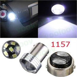 Discount reverse projector - 1157 P21 5W 6 Led 2835 DC12V Projector Car Auto Source Backup Reverse Parking Lamp Bulbs BAY15D 6SMD White Wholesales