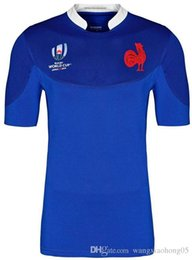 World teams online shopping - world cup France rugby jersey FRANCE home blue Rugby Japan Jerseys Home White Red National Team Japanese Rugby size S XL can print