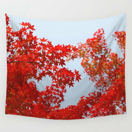 $enCountryForm.capitalKeyWord UK - Art Floral Red Maple Print Tapestry Wall Hanging Tapestry Living Room Home Decor