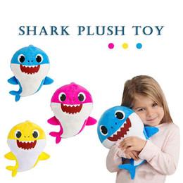 $enCountryForm.capitalKeyWord Australia - 12'' BABY SHARK With Music Plush Toys 12inch 30CM Stuffed&Plush Dolls Shark Baby Mommy Daddy Grandpa Grandma Game Play Singing Songs 10PCS