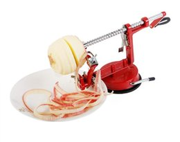 apple slice cutter NZ - Multi Function Apple Peeler Stainless Steel Fruit Pear Slicing Machine Portable Chipper Peeled Cutter Zester Kitchen Tools WB833