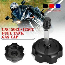 Aluminium tAnks online shopping - Aluminium Color CNC Fuel Tank Cap Gas Cap Gas Feul Tank Oil For cc cc Dirt Bike ATV Quad Taotao Roketa Sunl