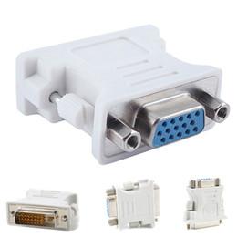 DVI 24 5 DVI erkek 24 + 5 24 + 1 PC için VGA dişi adaptörü, HDTV Video Monitörü Adaptörü Dönüştürücü 1pcs