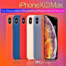 $enCountryForm.capitalKeyWord Australia - Original Official Style Silicone Case For iphone XS MAX XR X Cases For apple For iPhone 7 8 6S Plus Retail Cover case