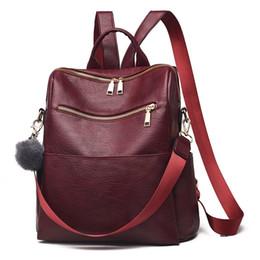 $enCountryForm.capitalKeyWord UK - 2019 Women Leather Backpacks For Girl Sac A Dos Femme Rucksacks For Girls Preppy Style Back Pack School Bags Girls Bagpack
