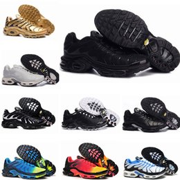 ShoeS caSual canvaS flat online shopping - 2020 New Tn Mens Shoes New Black White Red Tns TN Plus Ultra Sports Shoes Cheap TN Requin Fashion Casual Sneakers